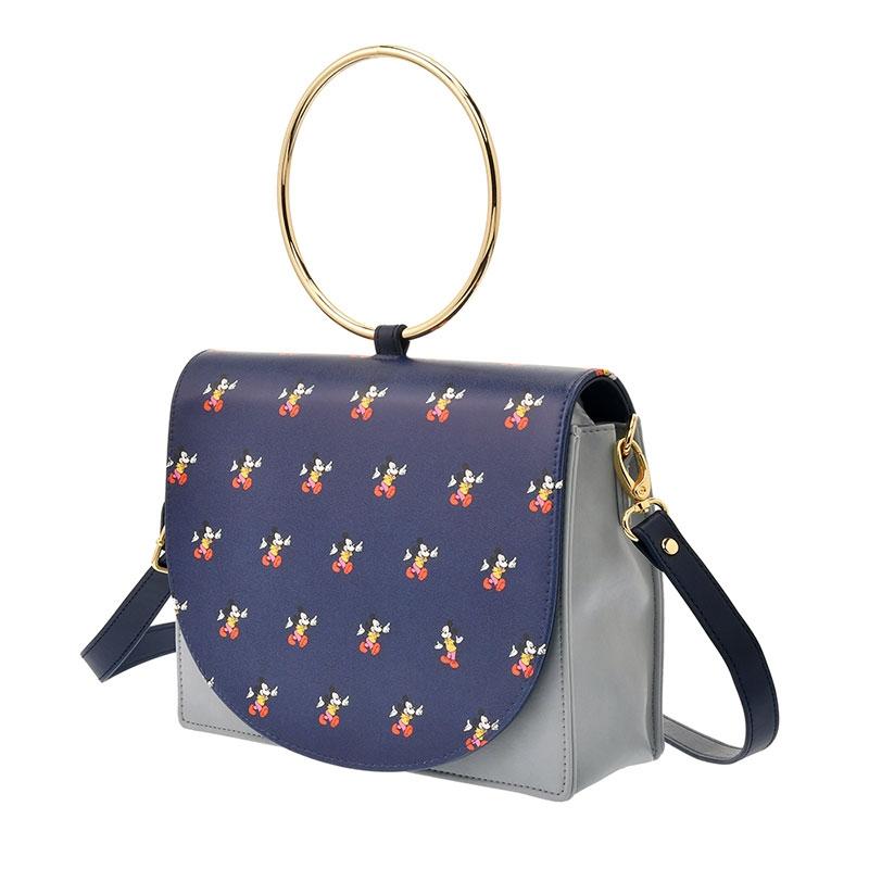 ミッキー ショルダーバッグ 2WAY リングハンドル アイコン Shoulder&Body Bag
