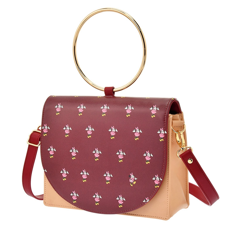 【アウトレット】ミニー ショルダーバッグ 2WAY リングハンドル アイコン Shoulder&Body Bag