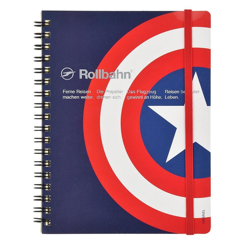 【デルフォニックス】マーベル キャプテン・アメリカ Rollbahn ポケット付メモ Icon Collection