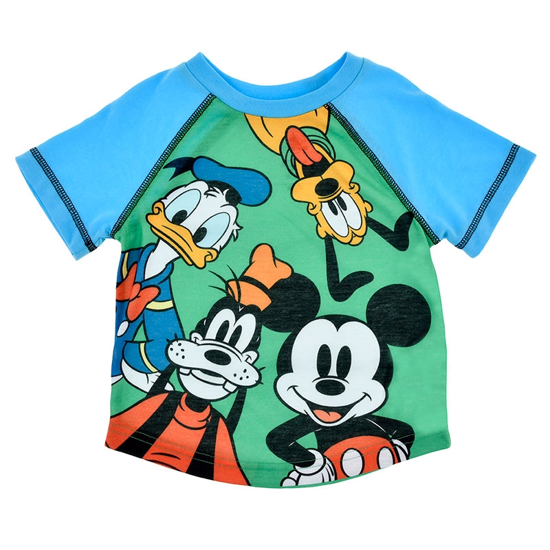 ミッキー&フレンズ キッズ用半袖パジャマ(100) ラグラン