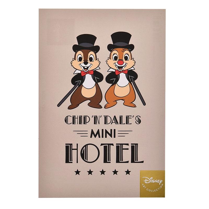チップ&デール ポストカード ホテルマネジャー ミニホテル