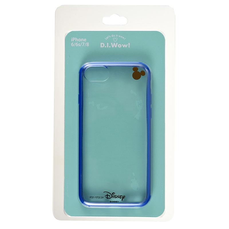 ミッキー iPhone 6/6s/7/8用スマホケース・カバー ブルー D.I.Wow!