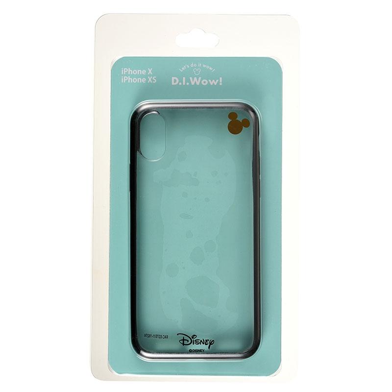 【アウトレット】ミッキー iPhone X/XS用スマホケース・カバー ブラック D.I.Wow!
