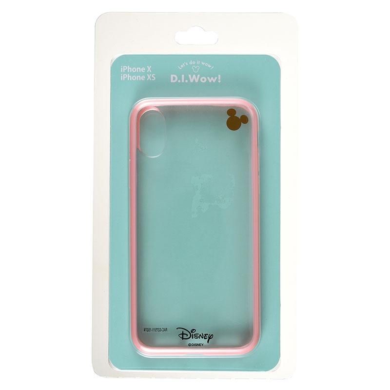 ミッキー iPhone X/XS用スマホケース・カバー ピンク D.I.Wow!