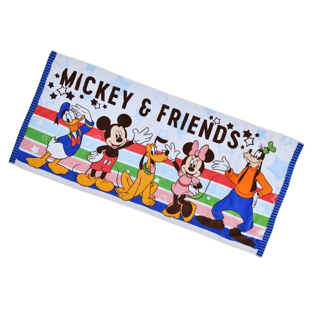 ミッキー&フレンズ ビーチタオル カラフルライン