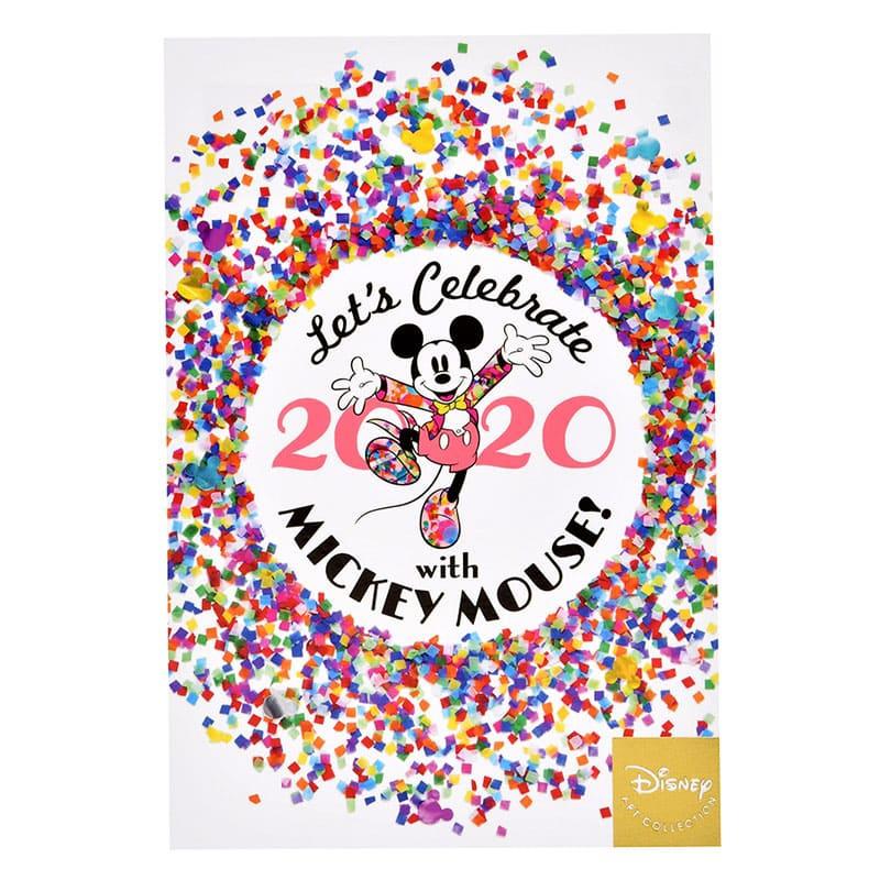 ミッキー ポストカード コンフェッティ 2020 B