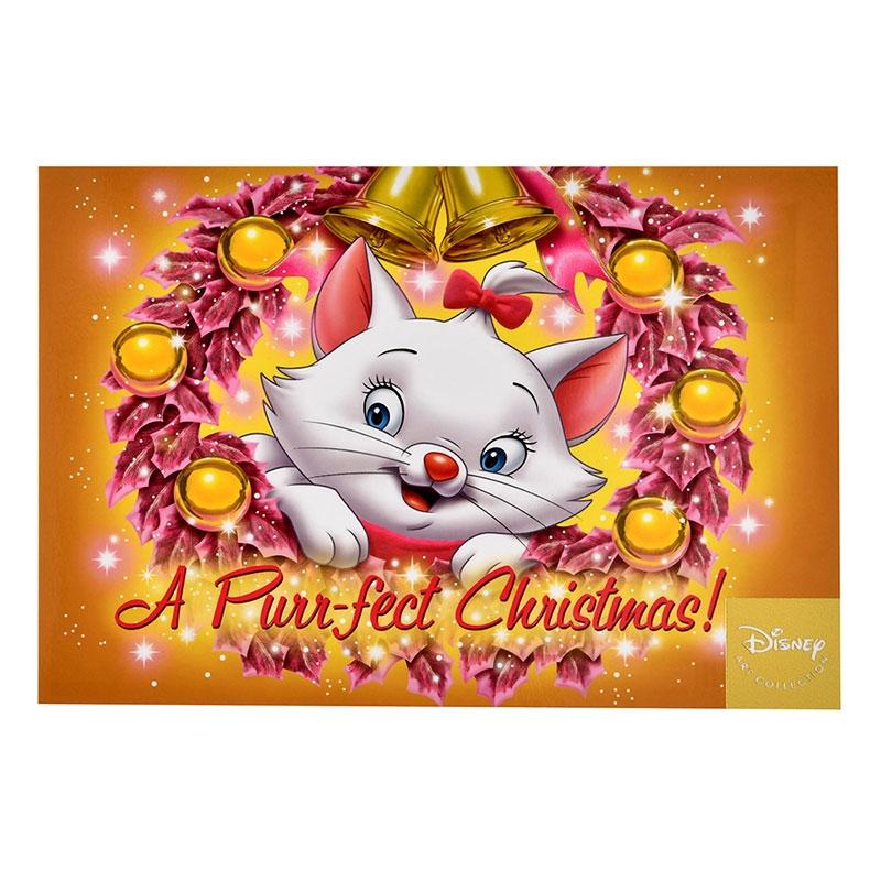 マリー おしゃれキャット ポストカード クリスマスリース