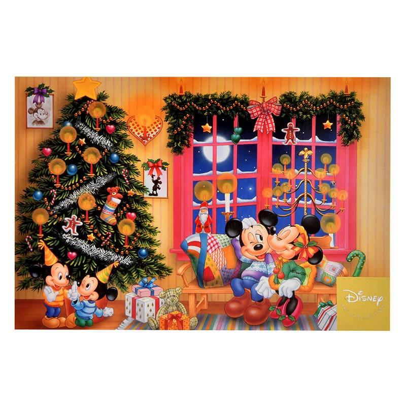 ミッキー&ミニー、モーティー&フェルディ ポストカード クリスマス