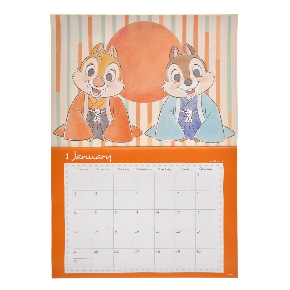 チップ&デール 壁掛けカレンダー 2021