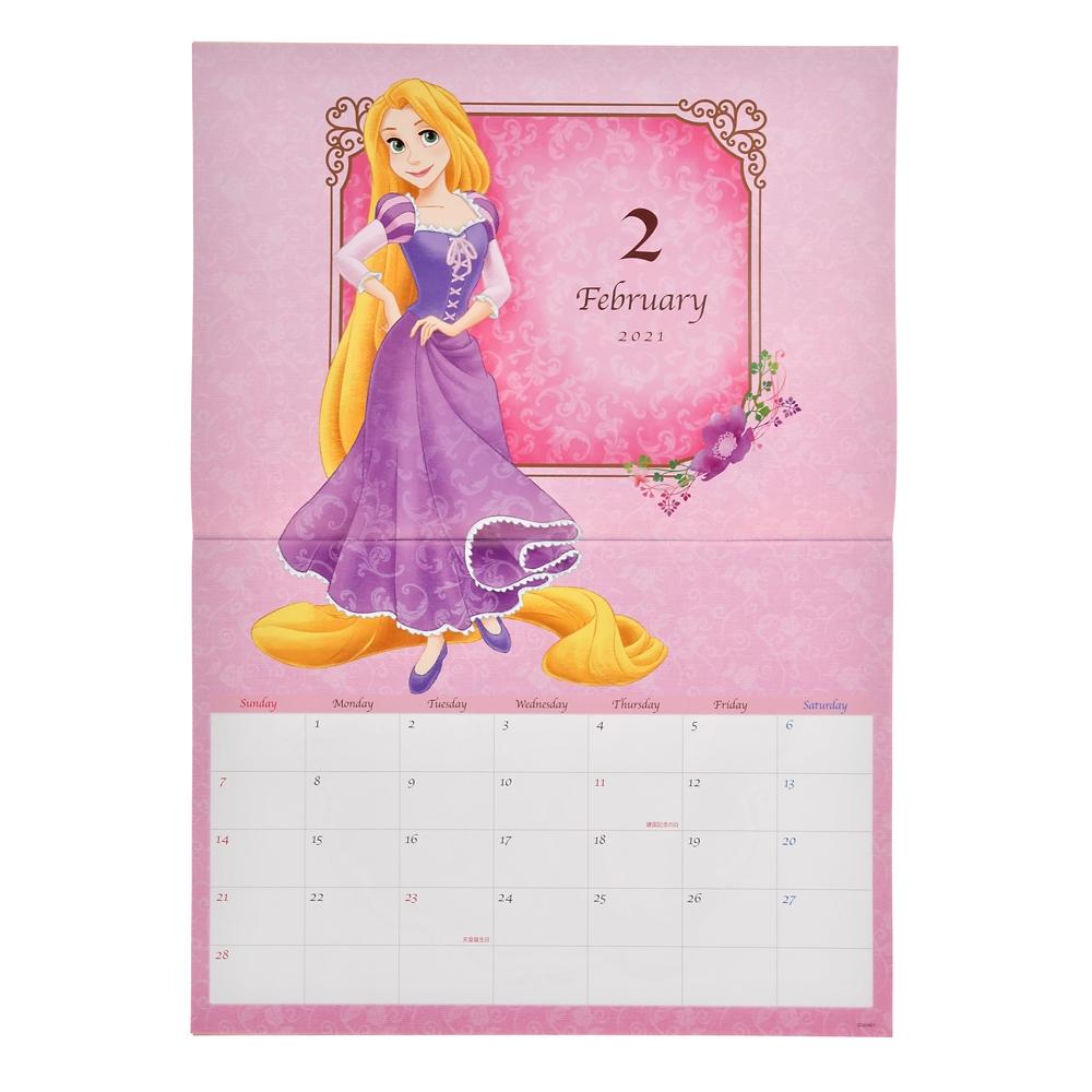 ディズニープリンセス 壁掛けカレンダー 2021