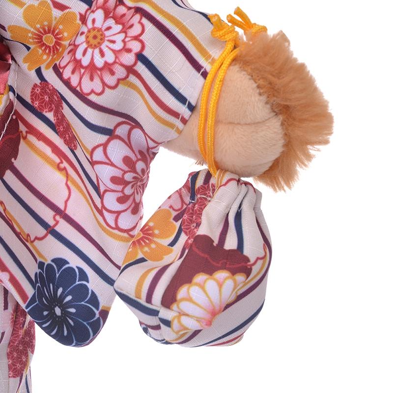 ユニベアシティ ぬいぐるみ専用コスチューム ミッキー柄 浴衣 菊