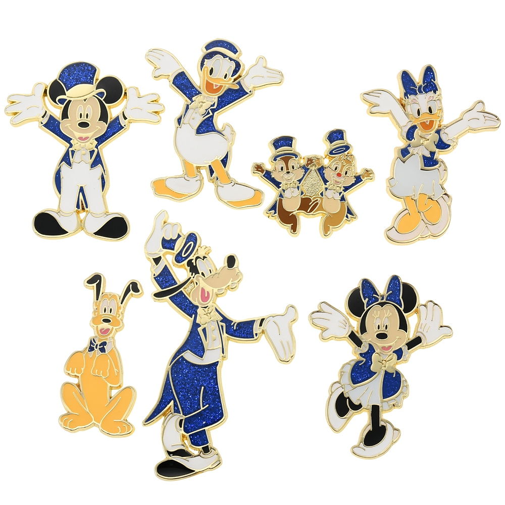 ミッキー&フレンズ ピンバッジ セット TOKYO DISNEY RESORT STORE 20th Anniversary