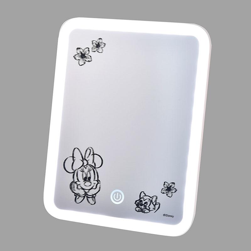 ミニー&フィガロ LEDスタンドミラー ナチュラル