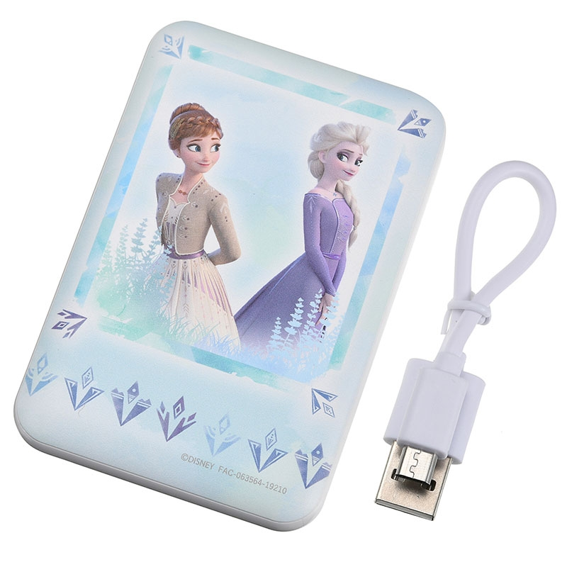 アナ&エルサ モバイルバッテリーチャージャー アナと雪の女王2