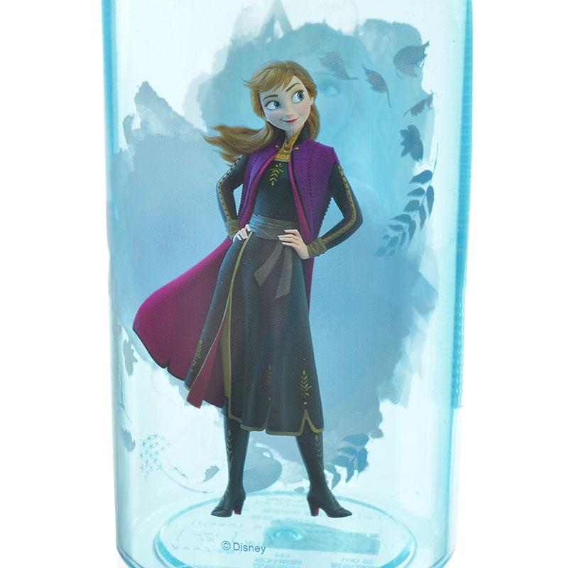アナ&エルサ 水筒・ウォーターボトル ストラップ付き クリア アナと雪の女王2