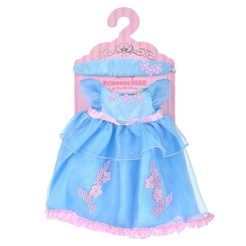 ユニベアシティ ぬいぐるみ専用コスチューム ドレス ブルー アクセントピンク