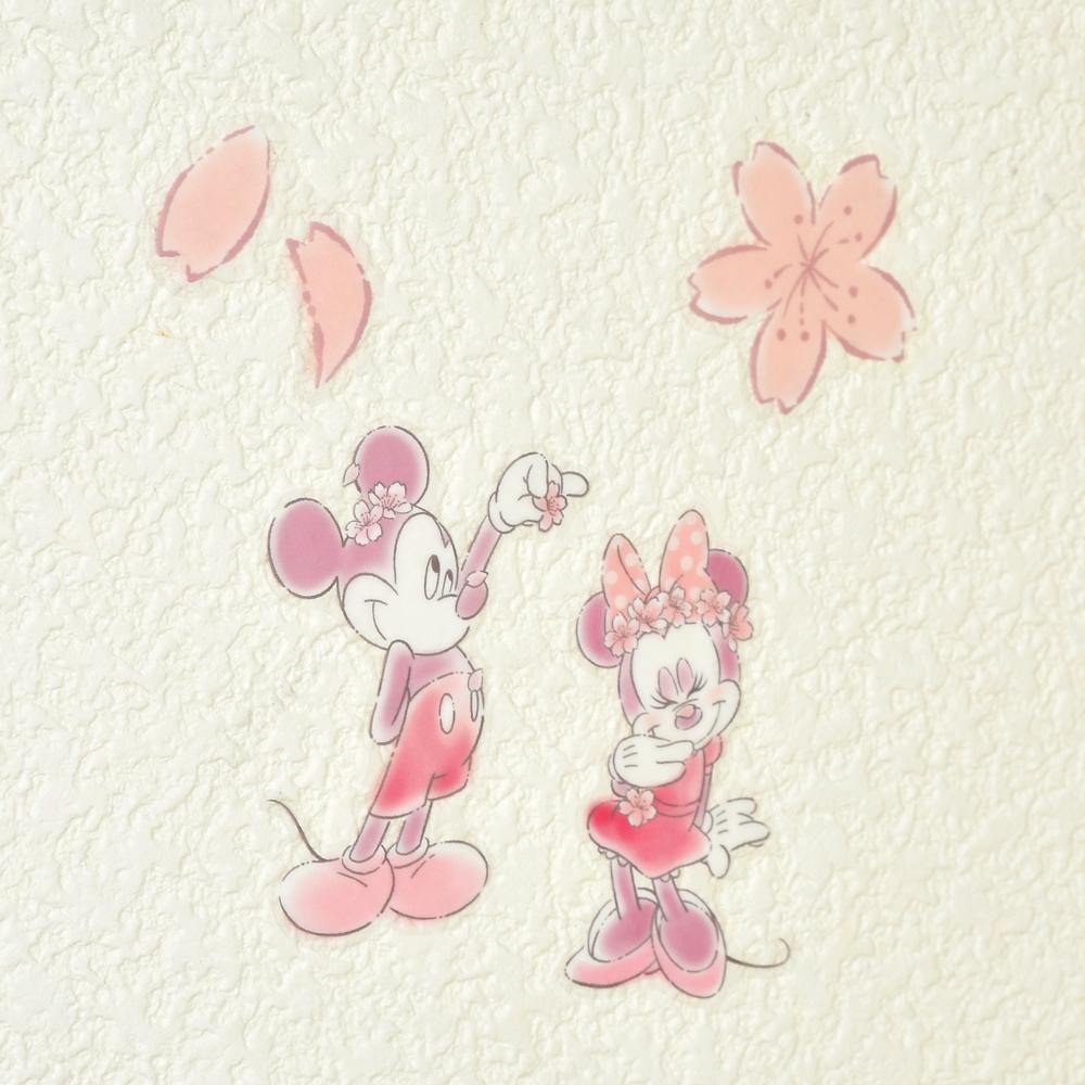 ミッキー&ミニー ウォールステッカー サクラ