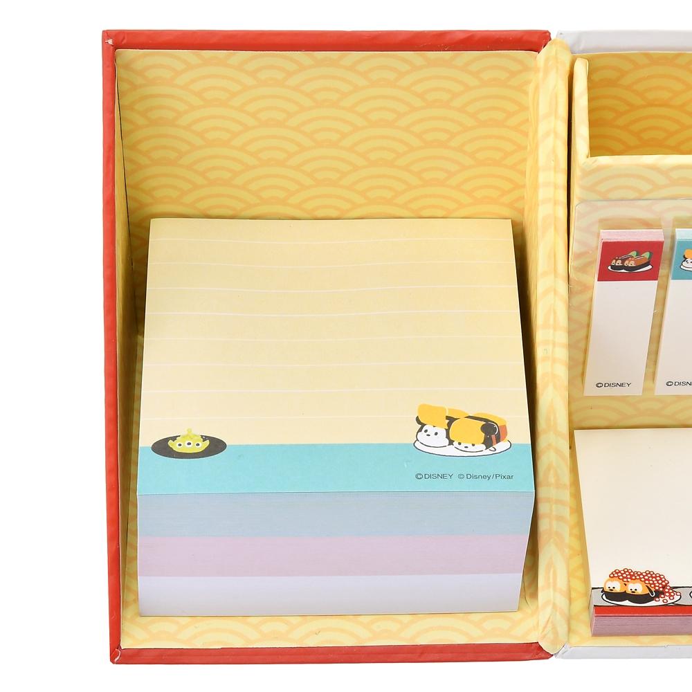 【アウトレット】ツムツム ディズニーキャラクター 付箋・メモ帳 ペンスタンド付き お寿司 TSUM TSUM