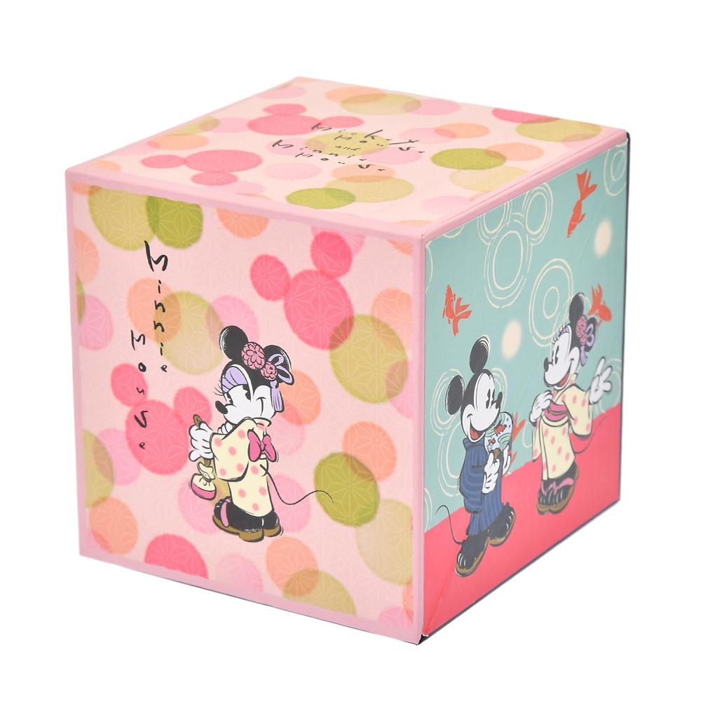 ミッキー&ミニー 付箋・メモ帳 ペンスタンド付き 日本の夏