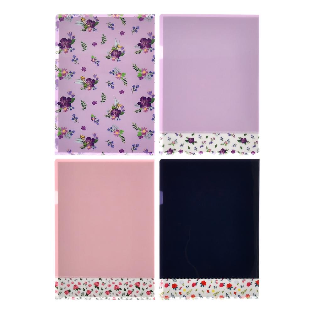 アリス、バンビ、ティンカー・ベル クリアファイル Flower Classic