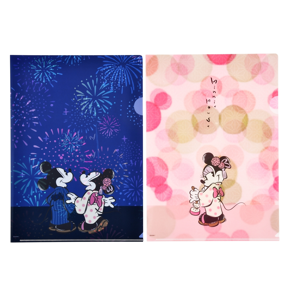 ミッキー&ミニー クリアファイル ホログラム Japan Culture