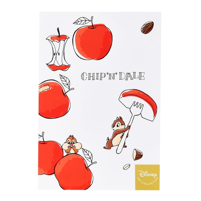 チップ&デール ポストカード リンゴ Cook&Eat