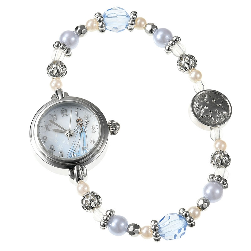 【J-AXIS】エルサ  腕時計・ウォッチ シルバー アクセサリー ディズニー・コレクション