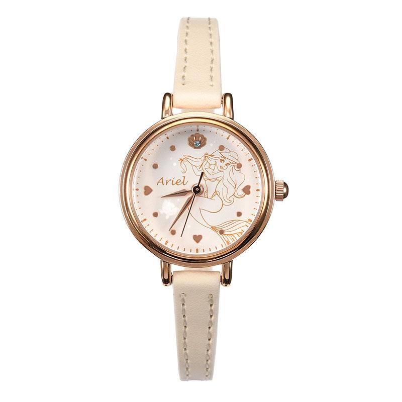 【J-AXIS】アリエル 腕時計・ウォッチ アイボリー ディズニー・コレクション