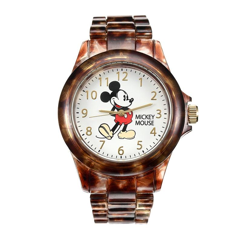 【J-AXIS】ミッキー 腕時計・ウォッチ べっ甲風 ディズニー・コレクション