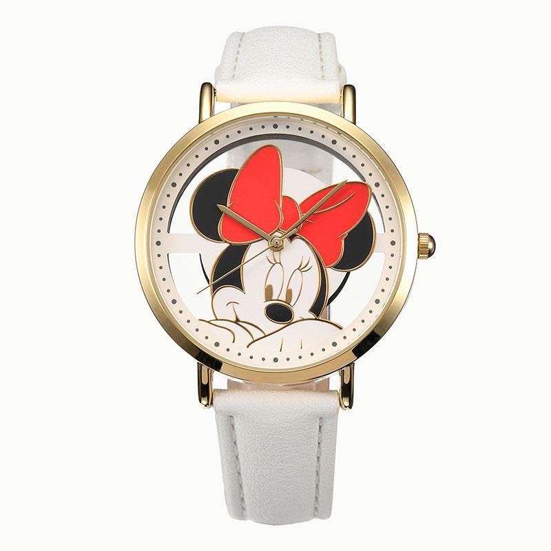 【J-AXIS】ミニー 腕時計・ウォッチ ホワイト スケルトン ディズニー・コレクション