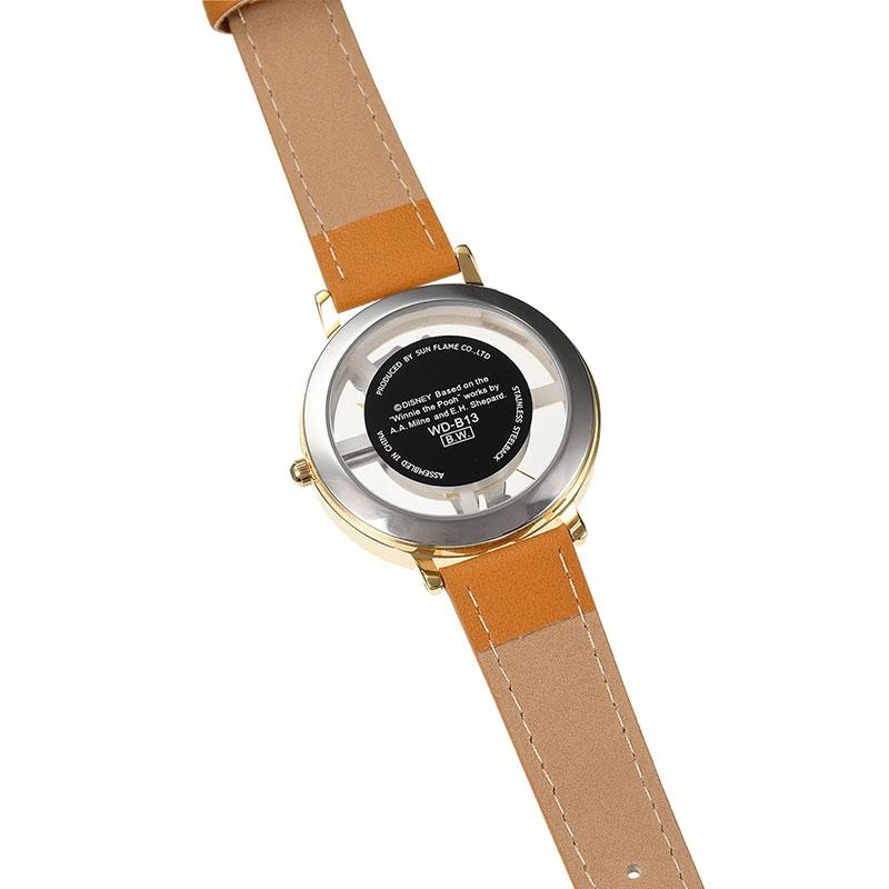 【J-AXIS】プーさん 腕時計・ウォッチ キャメル スケルトン ディズニー・コレクション