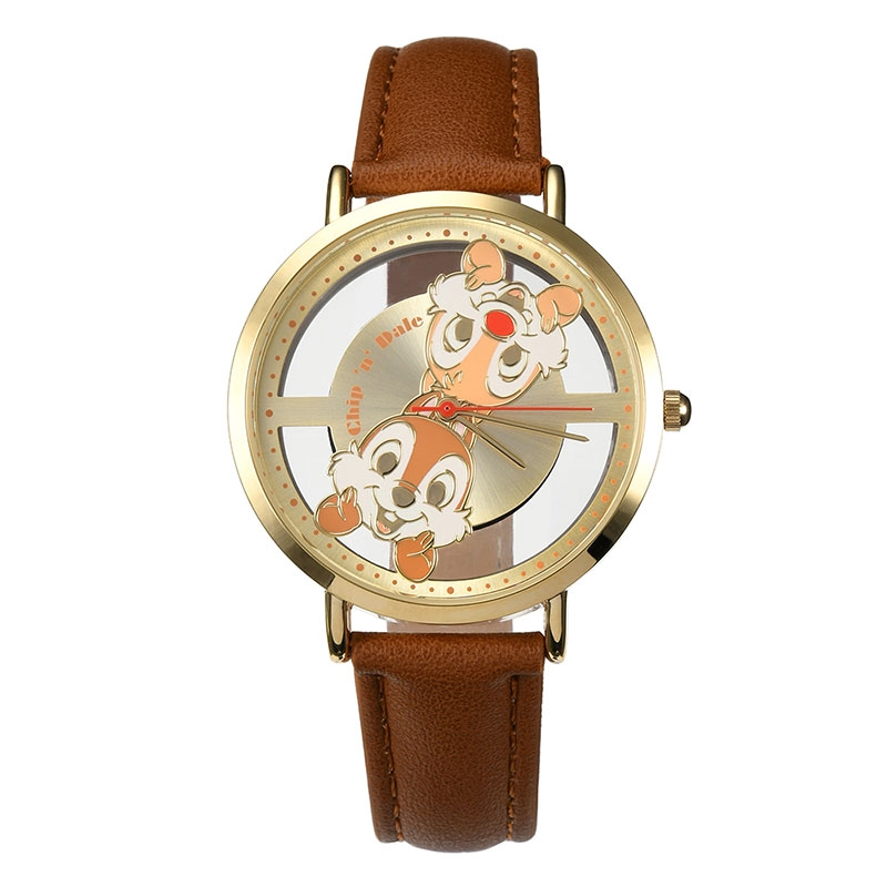 【J-AXIS】チップ&デール 腕時計・ウォッチ ブラウン スケルトン ディズニー・コレクション