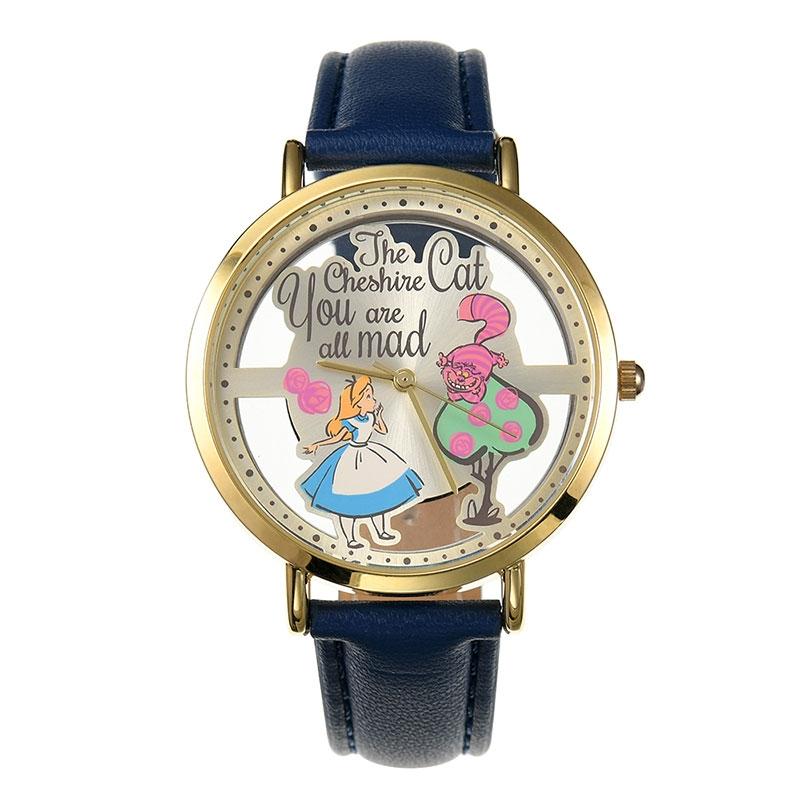 【J-AXIS】アリス&チェシャ猫 腕時計・ウォッチ スケルトン ディズニー・コレクション