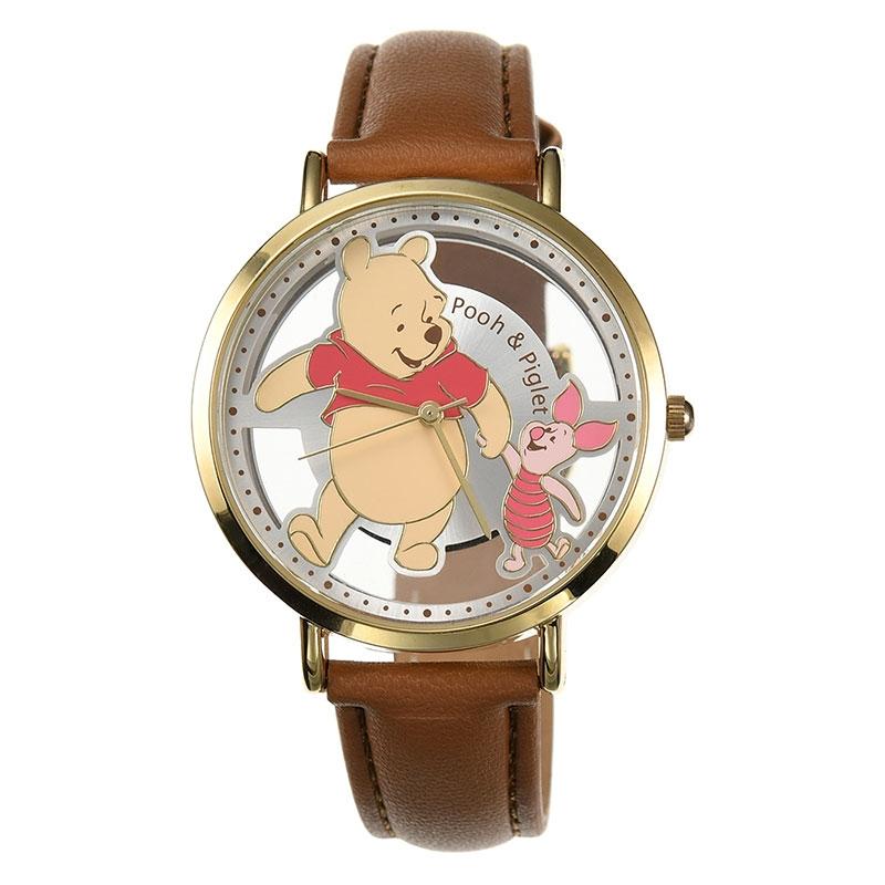 【J-AXIS】プーさん&ピグレット 腕時計・ウォッチ スケルトン ディズニー・コレクション