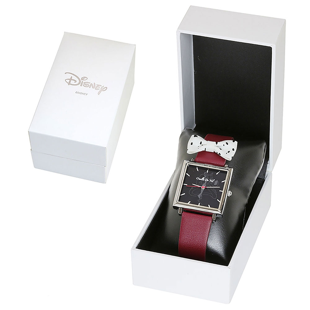 【J-AXIS】クルエラ 腕時計・ウォッチ 赤 101匹わんちゃん