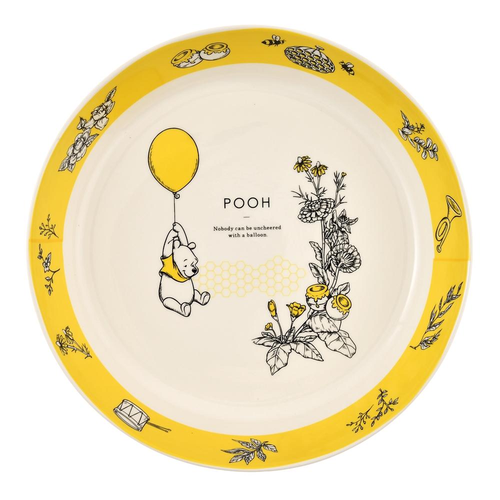 プーさん、ピグレット、ティガー カレー皿 3枚セット ボタニカル