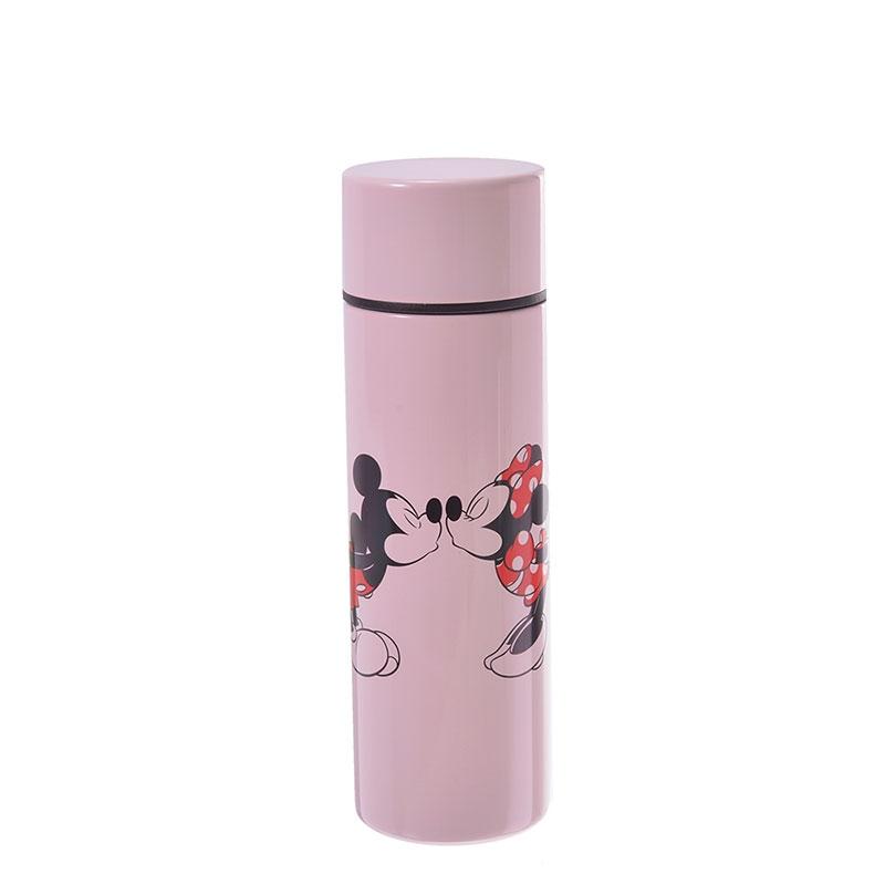 ミッキー&ミニー ステンレスボトル 110ml ピンク リップスティックボトル
