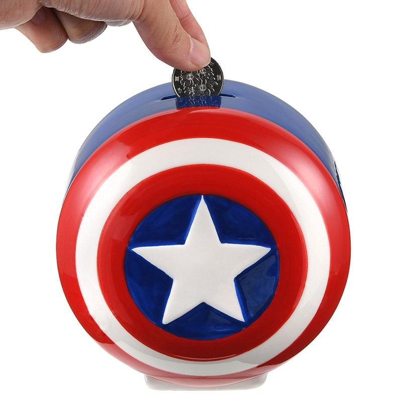 マーベル キャプテン・アメリカ シールド 貯金箱