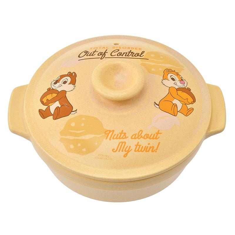 チップ&デール 土鍋 6号 万古焼 ウォールナッツ