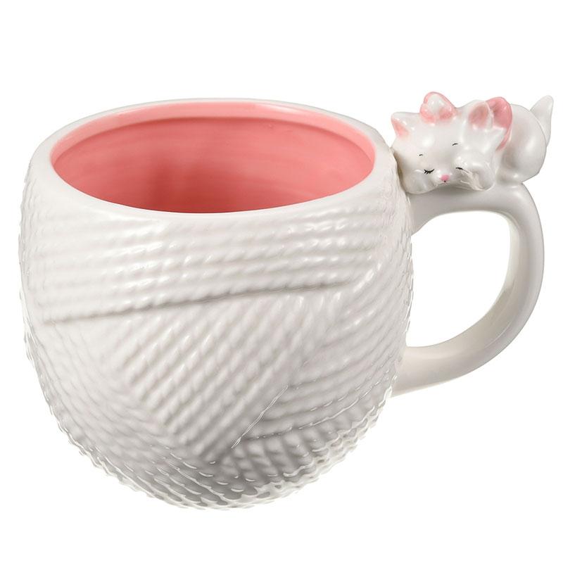 マリー おしゃれキャット マグカップ 毛糸 ホワイト