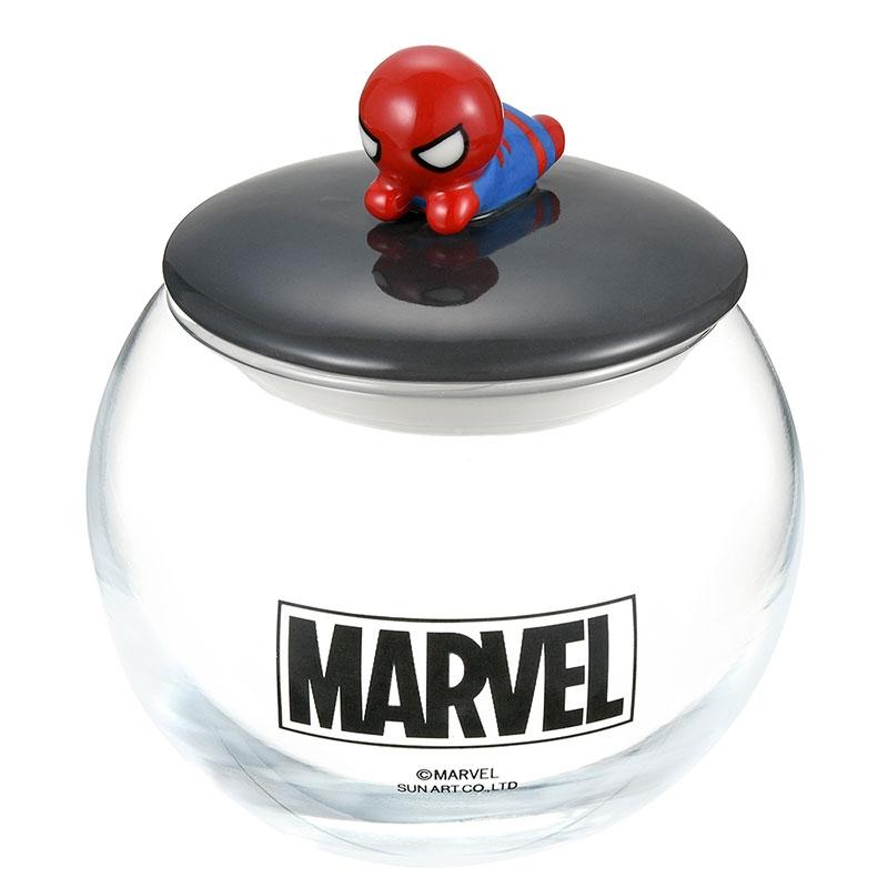 マーベル スパイダーマン キャニスター ガラス 丸型 KAWAII