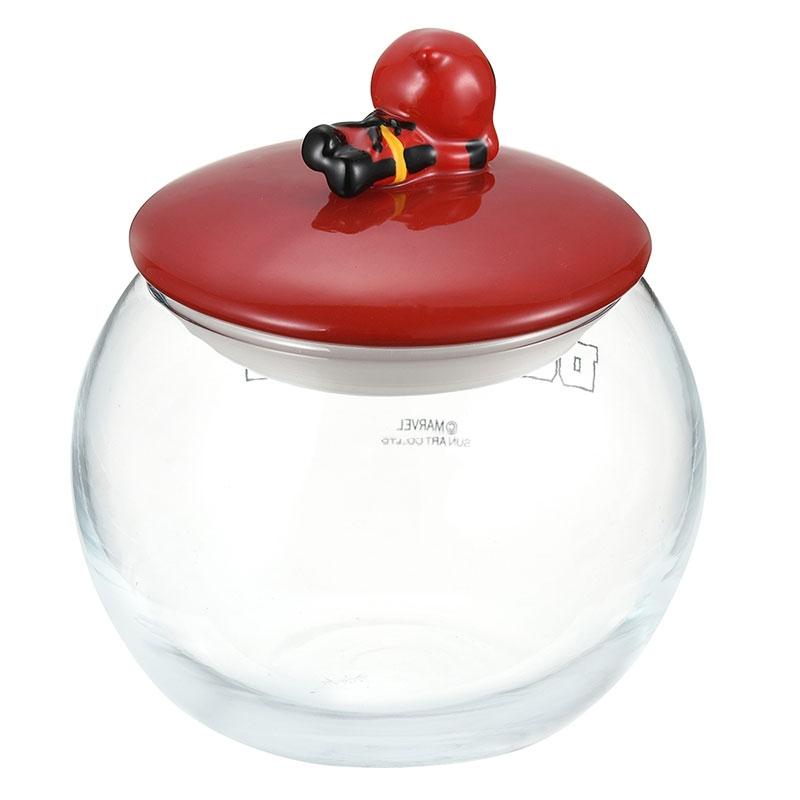 マーベル デッドプール キャニスター ガラス 丸型 KAWAII