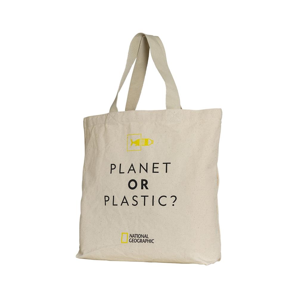 【NATIONAL GEOGRAPHIC】 トートバッグ PLANT OR PLASTIC オーガニックコットン