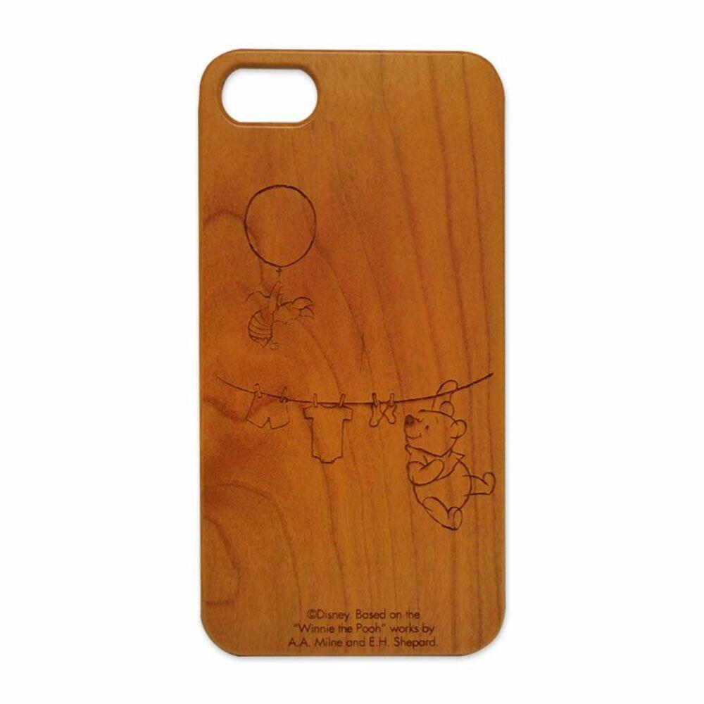 木製iPhone 7ケース ディズニー(くまのプーさん)