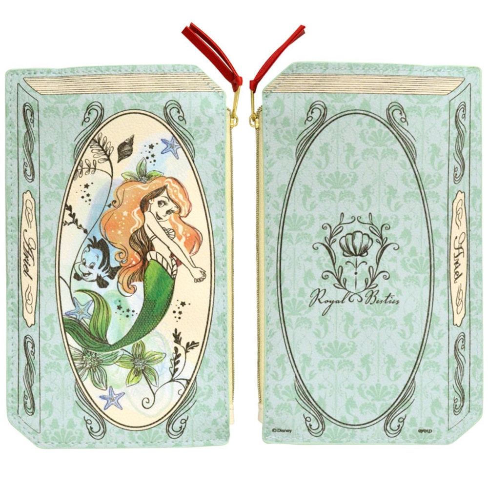 Disney プリンセス 2Dブック型ポーチ(アリエル)