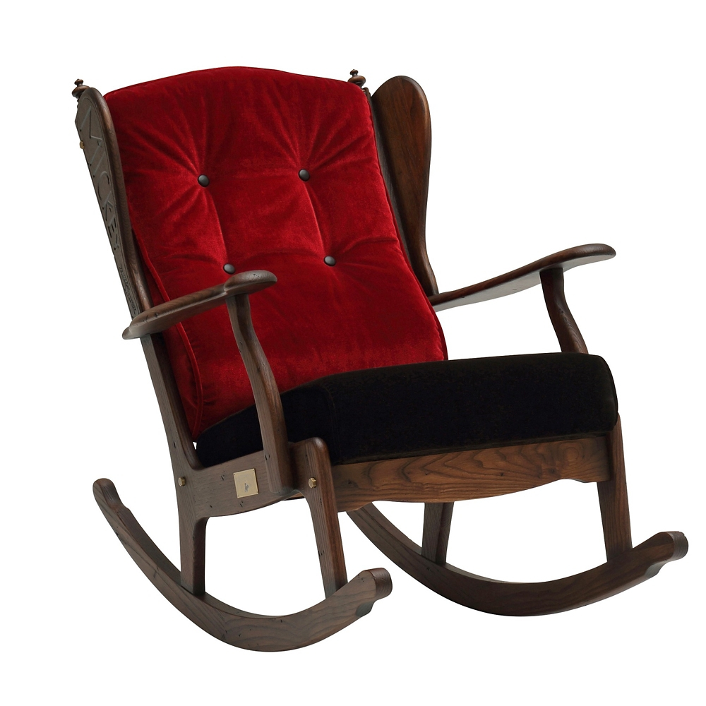 【カリモク家具】ミッキー ロッキングチェア R35202VDK レッド
