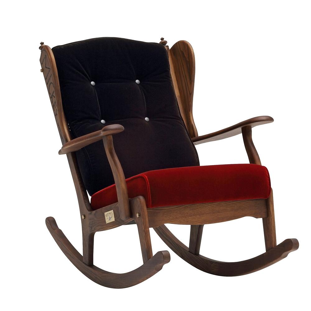 【カリモク家具】ミッキー ロッキングチェア R35202BDK ブラック