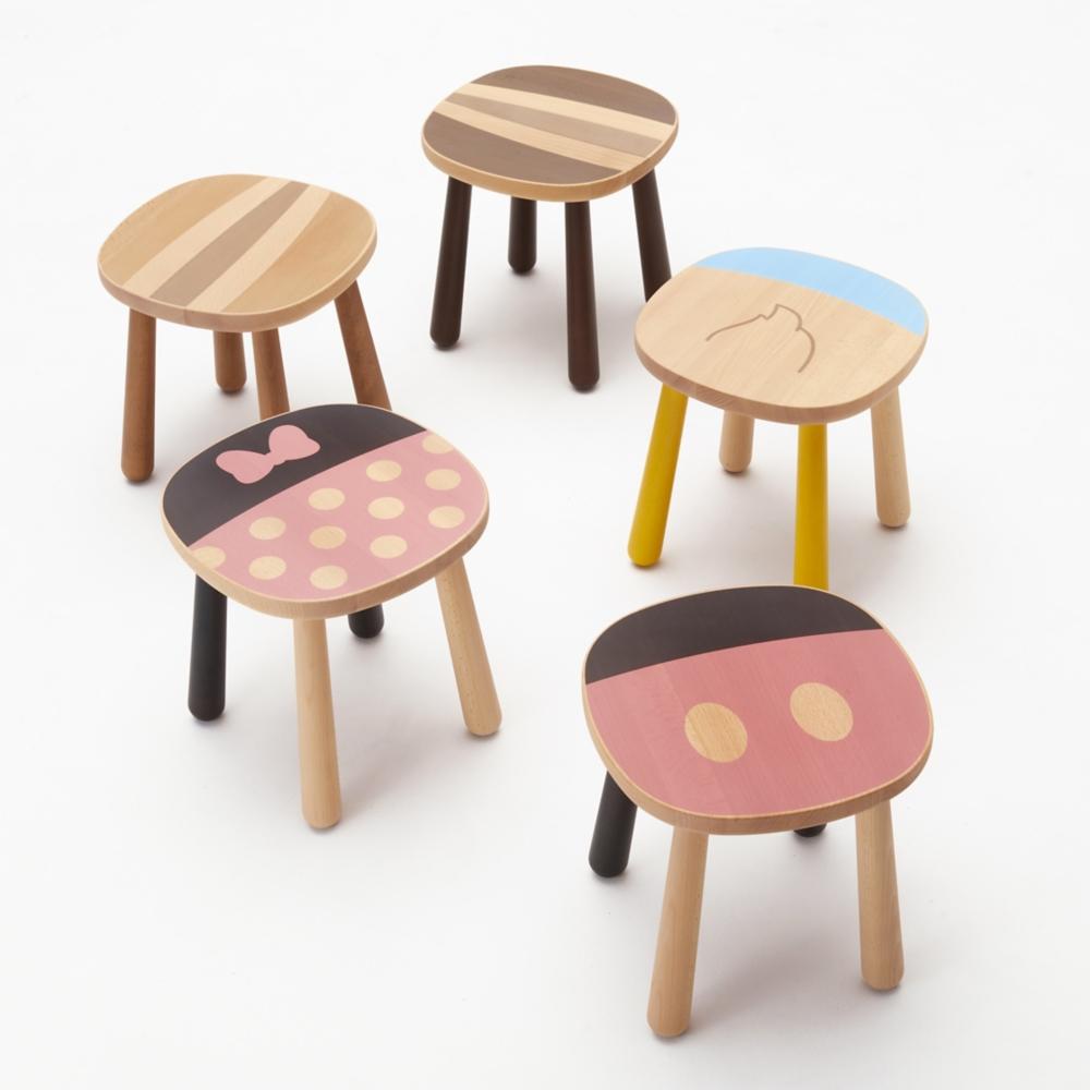 【カリモク家具】ミニー スツール P35106NBK ピンク
