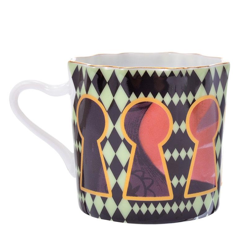 ふしぎの国のアリス デミタス碗皿 キーホール アートコレクション