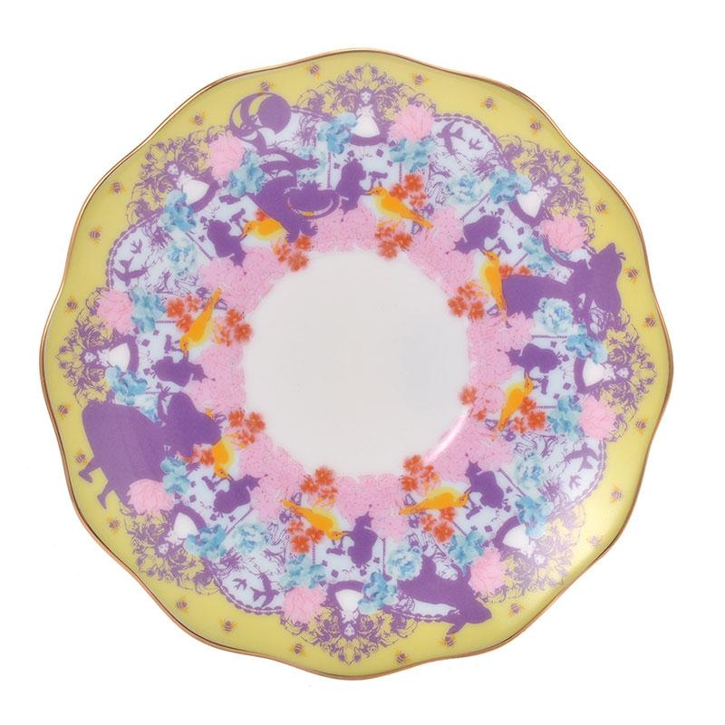 ふしぎの国のアリス デミタス碗皿 懐中時計 アートコレクション